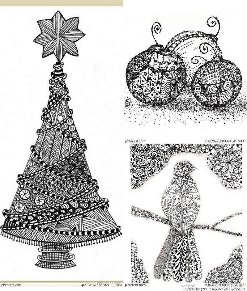 Christmas Zentangle Patterns | Zentangle Christmas | Pinterest ...