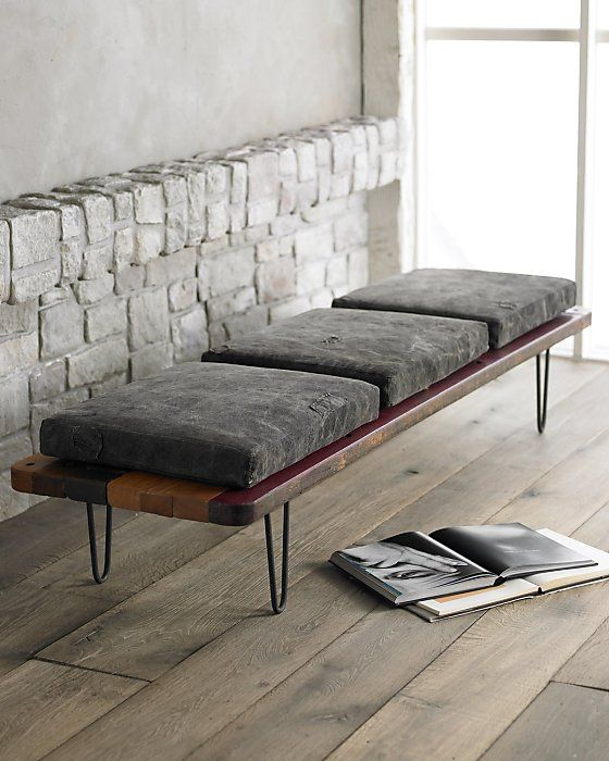Tarp Bench from horchow.com, $1,899 I\'m definitely making this ...
