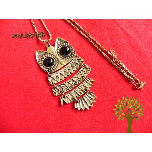 Online Shopping for The Awesome Owl Pendant chain !   Necklaces   Unique Indian Products by Maitri Crafts - MMAIT38723363640