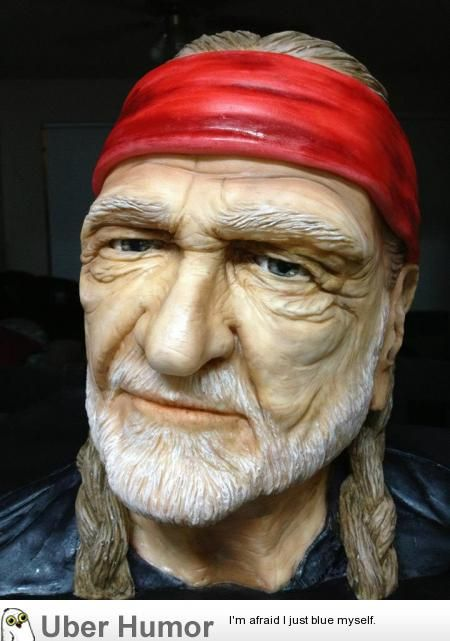 Willie Nelson by Chef Natalie Sideserf (its edible real cake)