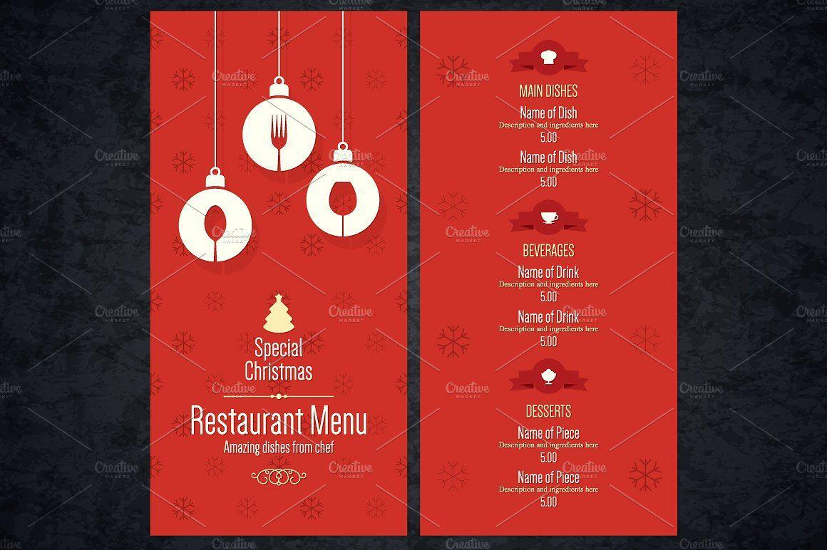 Special Christmas Festive Menu Christmas Special Creative Beverages Menu
