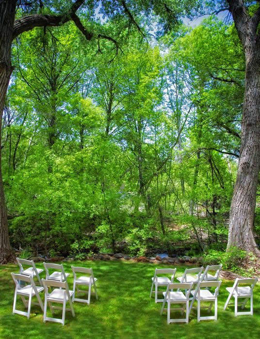 Creekside Inn Wedding Settings at our Sedona Bed and
