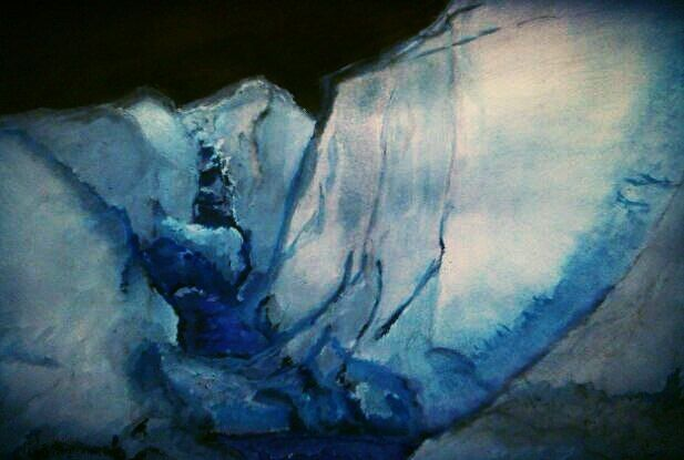 Tayushij Lednik Melting Glacier Watercolor Art Art Inspiration