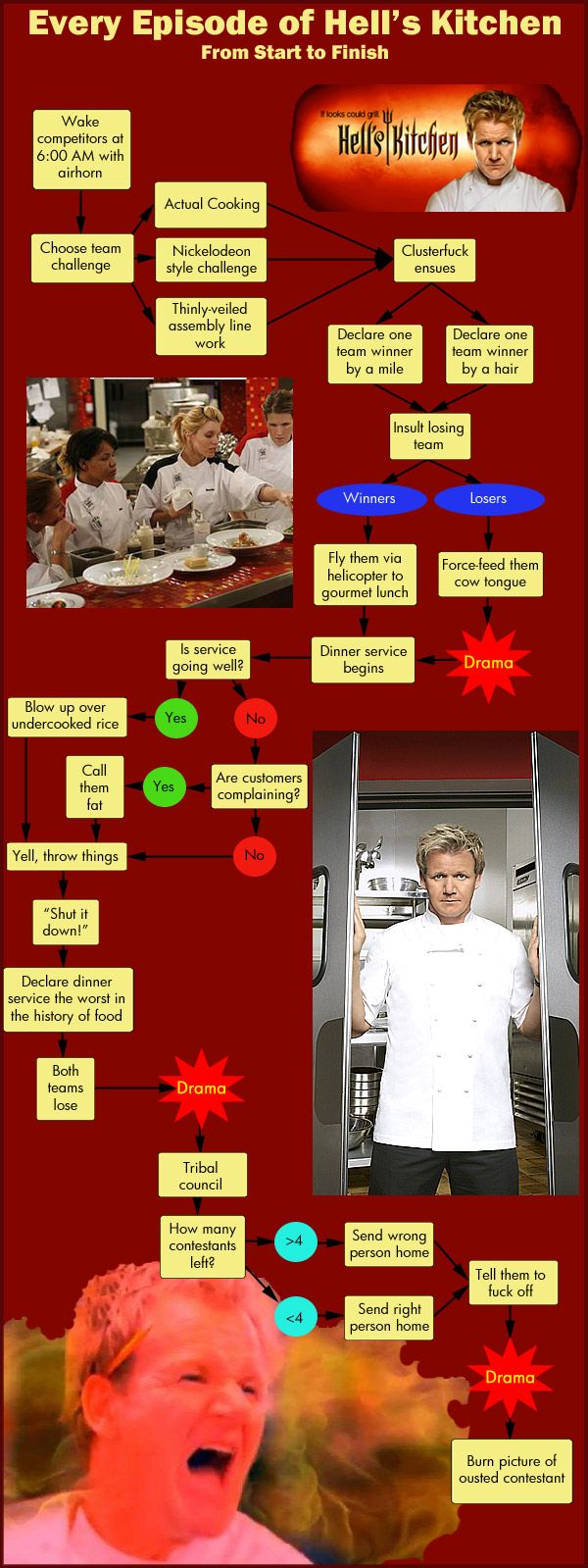 Every Episode of Hell's Kitchen Ever! The Flow Chart | Food ...