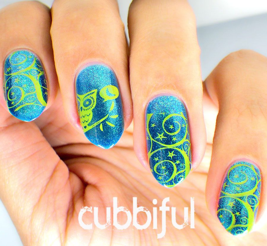 Nail Art Night: Night Owl Stamping Nail Art