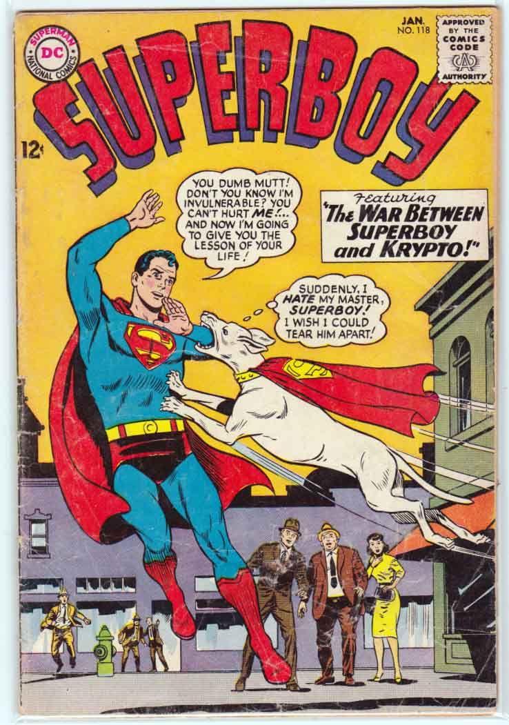Superboy #118 Vol. 1 (1965) Curt Swan Cover Art & Pencils. Jerry Siegel Story.
