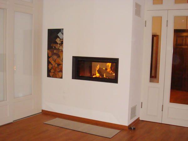 moderner verputzter tunnelkamin mit 2 sichtscheiben kamin pinterest verputzen kachelofen. Black Bedroom Furniture Sets. Home Design Ideas