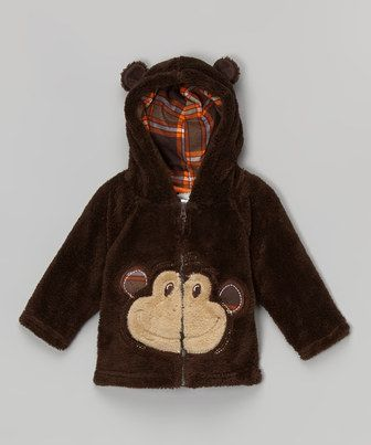 This Brown Monkey Hoodie - Infant & Toddler by Little Rebels is perfect! #zulilyfinds