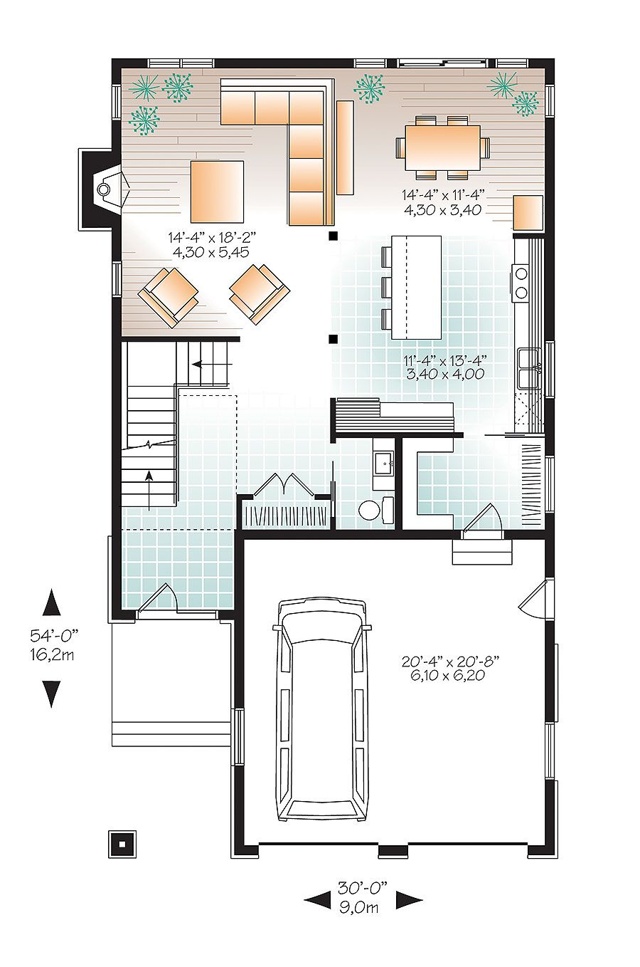 Plan 22406DR: Narrow Lot Northwest House Plan | Architectural design ...