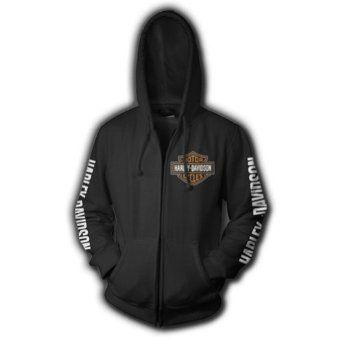 Harley-Davidson Men/'s Bar /& Shield Logo Pullover Hooded Sweatshirt Gray