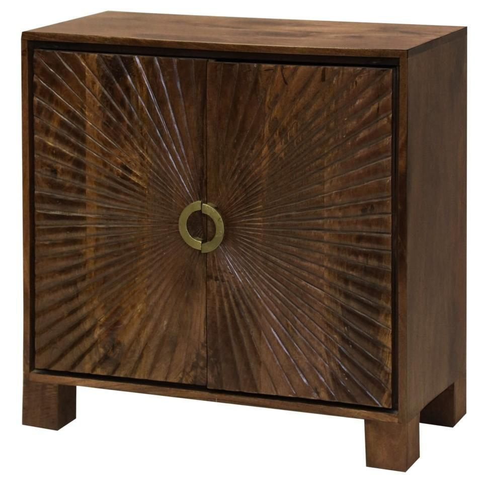 Starburst embossed cabinet made of solid mango wood accent cabinets wood cabinets cabinet furniture