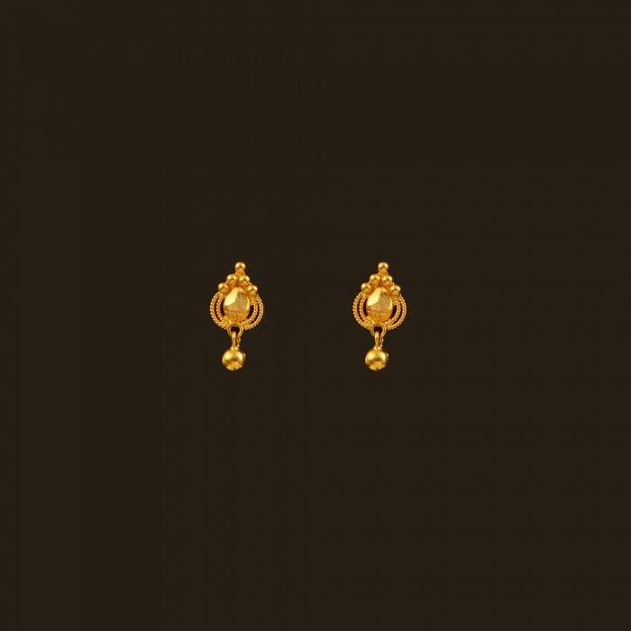 Gold Baby Earrings (108A33337) | Vummidi Bangaru Jewellers | WOMAN ...