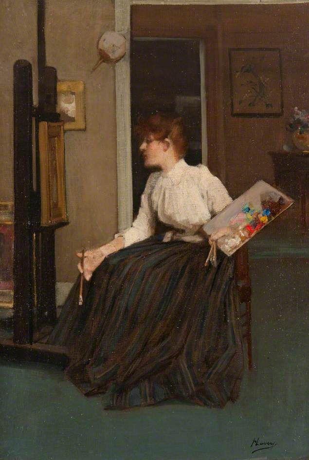 In the Studio ~ John Lavery ~ (Irish: 1856-1941)