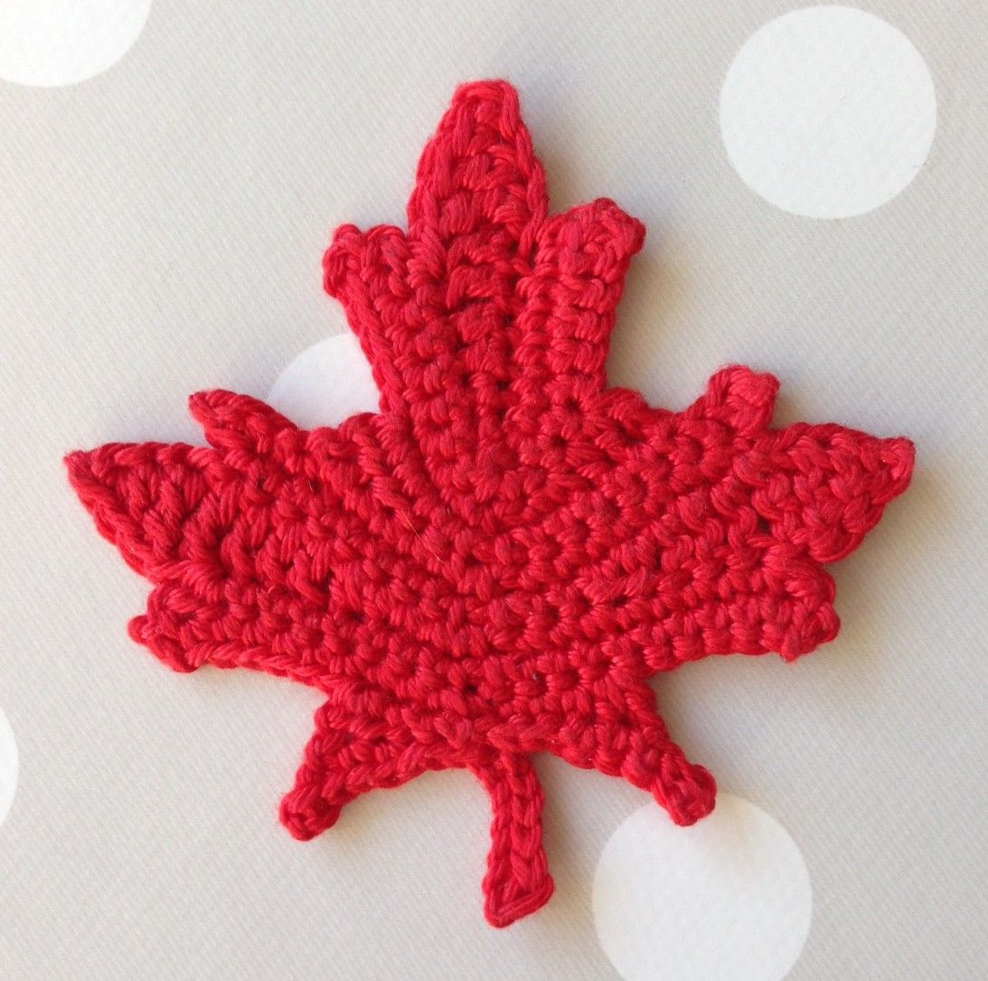 Link to free maple leaf pattern | Crochet | Pinterest | Leaves ...