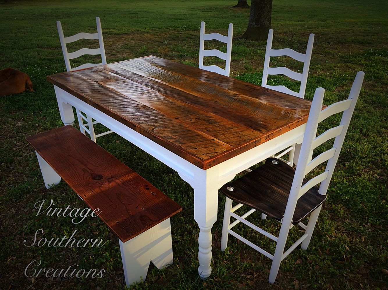 Farmhouse dining set by vintage southern creations