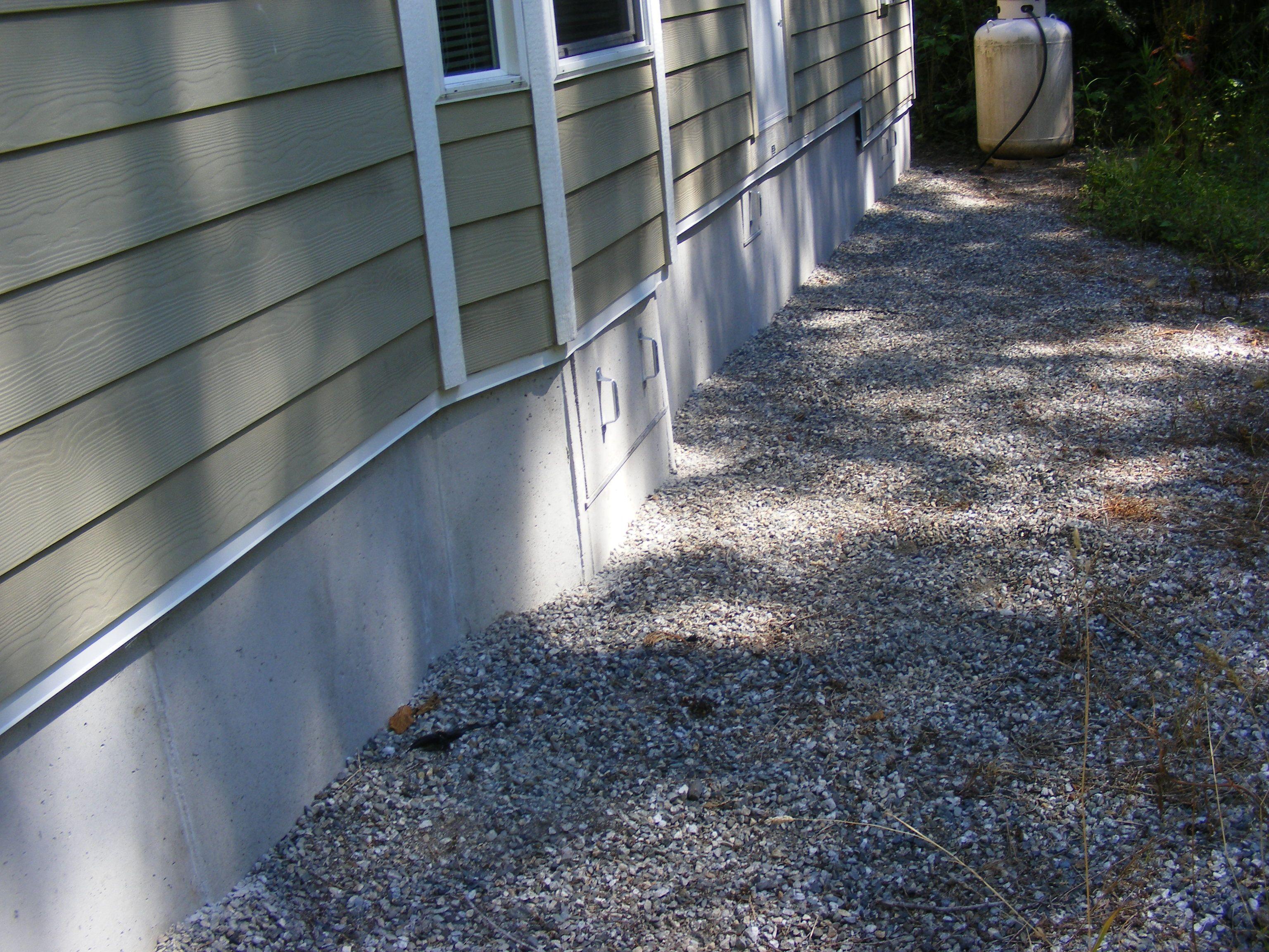 mobile home skirting rock look