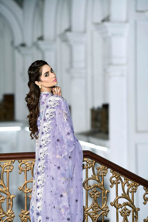 cbcd391fb5 Gul Ahmed 3 Piece Stitched Premium Embroidered Chiffon PM-167 - Lilac -  libasco.com #gulahmed #gulahmeddresses #gulahmedcollection #gulahmed2017 ...