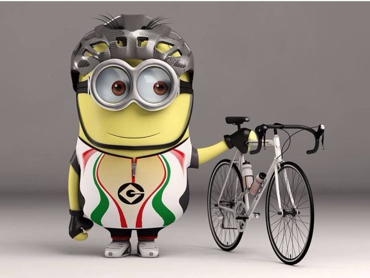 "bikeroar: ""Minions love cycling and bananasWho's gonna go see the Minions movie? GET MORE CYCLING FUN AT BIKEROAR.COM """