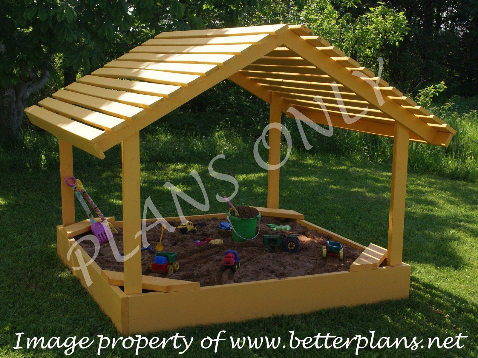 Plans to build a u x u covered sandbox sand box playground