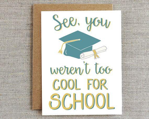 Funny Graduation Card Graduate Card Card For Graduate