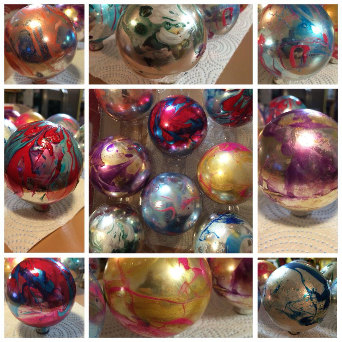 Nail Polish Christmas Ornaments Lukewarm Water Drizzle 2 Or More