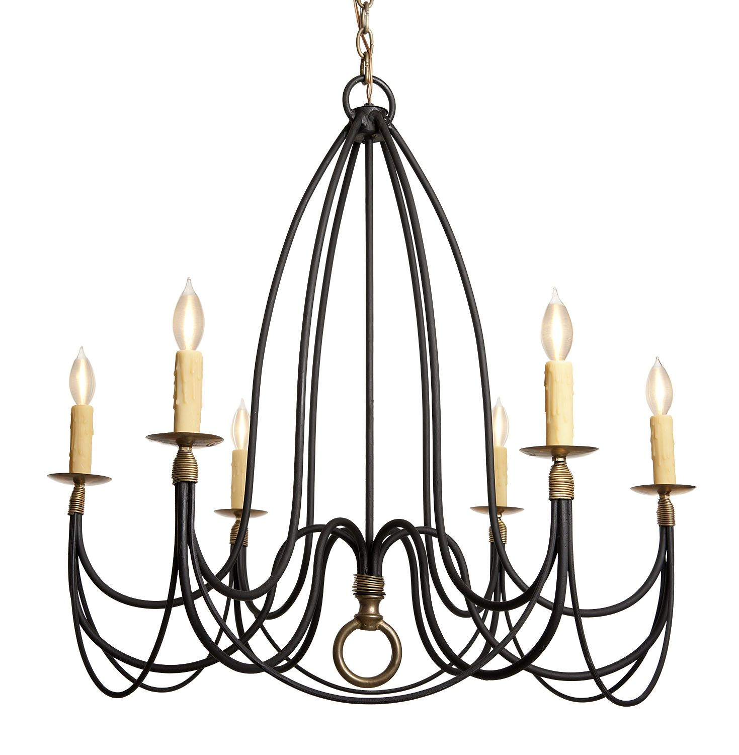 Country French Chandelier Dering Hall