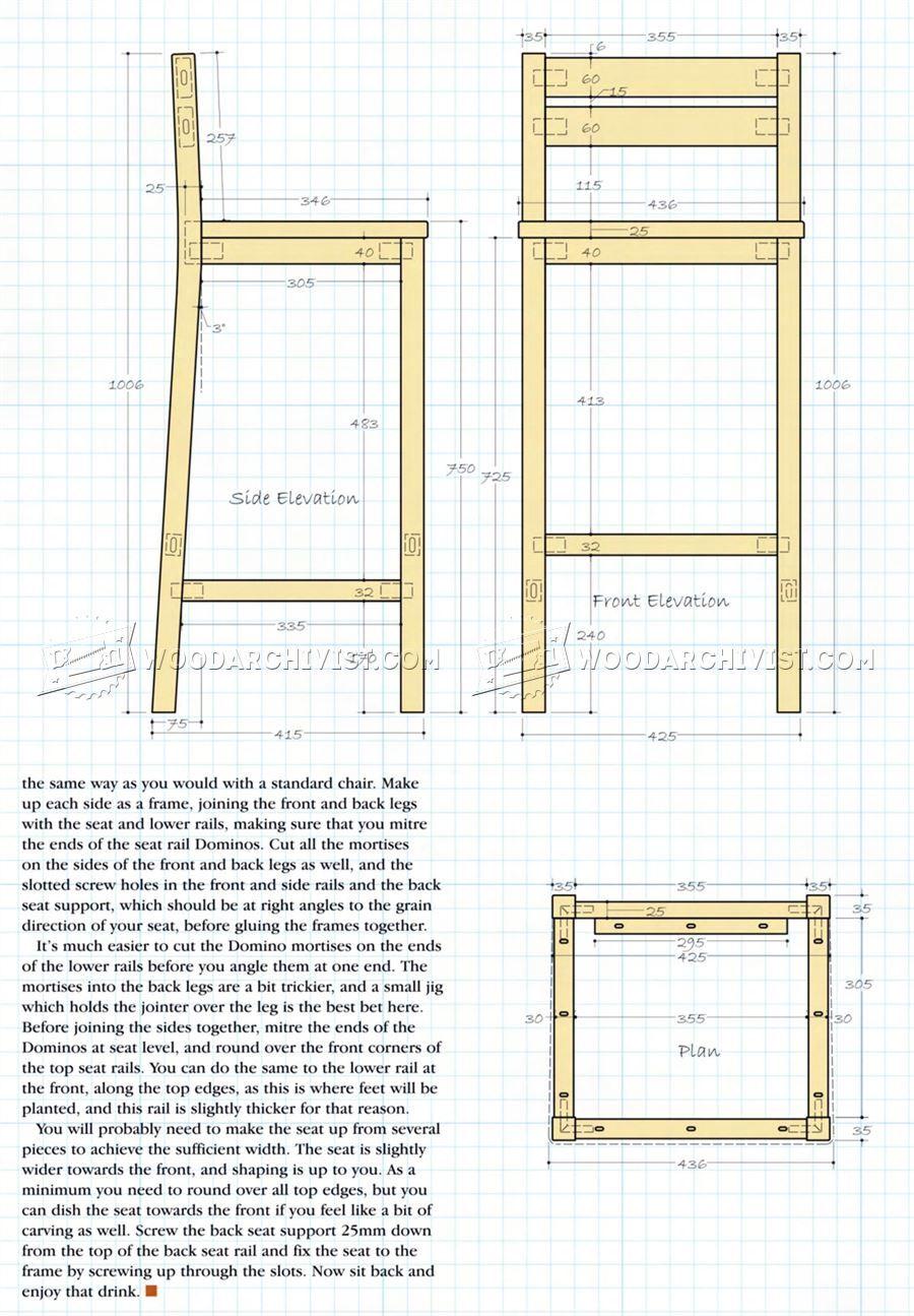 Diy Bar Stools Furniture Plans Diy Bar Stools Bar Stool