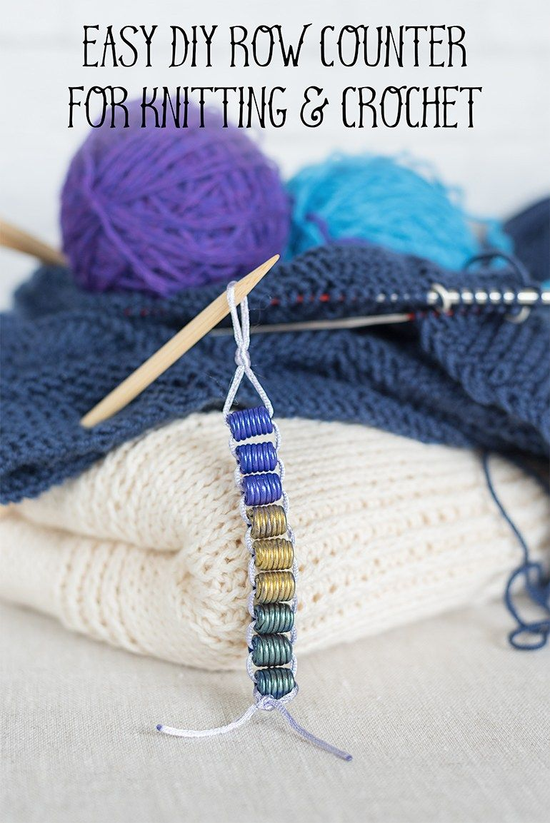 Super Easy Diy Row Counter For Knitting And Crochet Diy Create