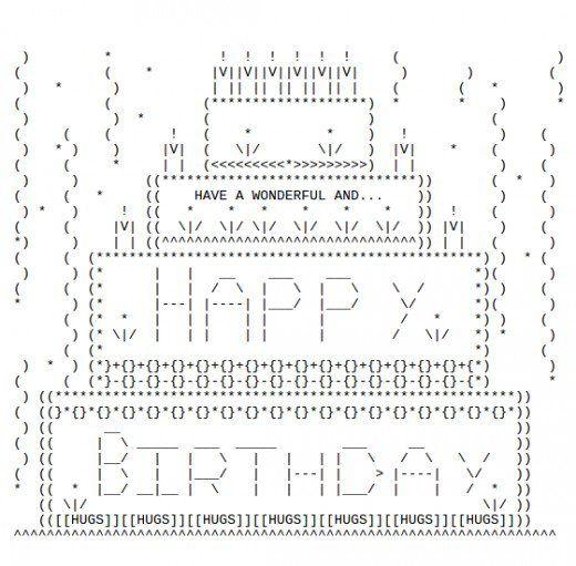 Pleasing Happy Birthday Ascii Text Art With Images Ascii Art Text Art Personalised Birthday Cards Paralily Jamesorg