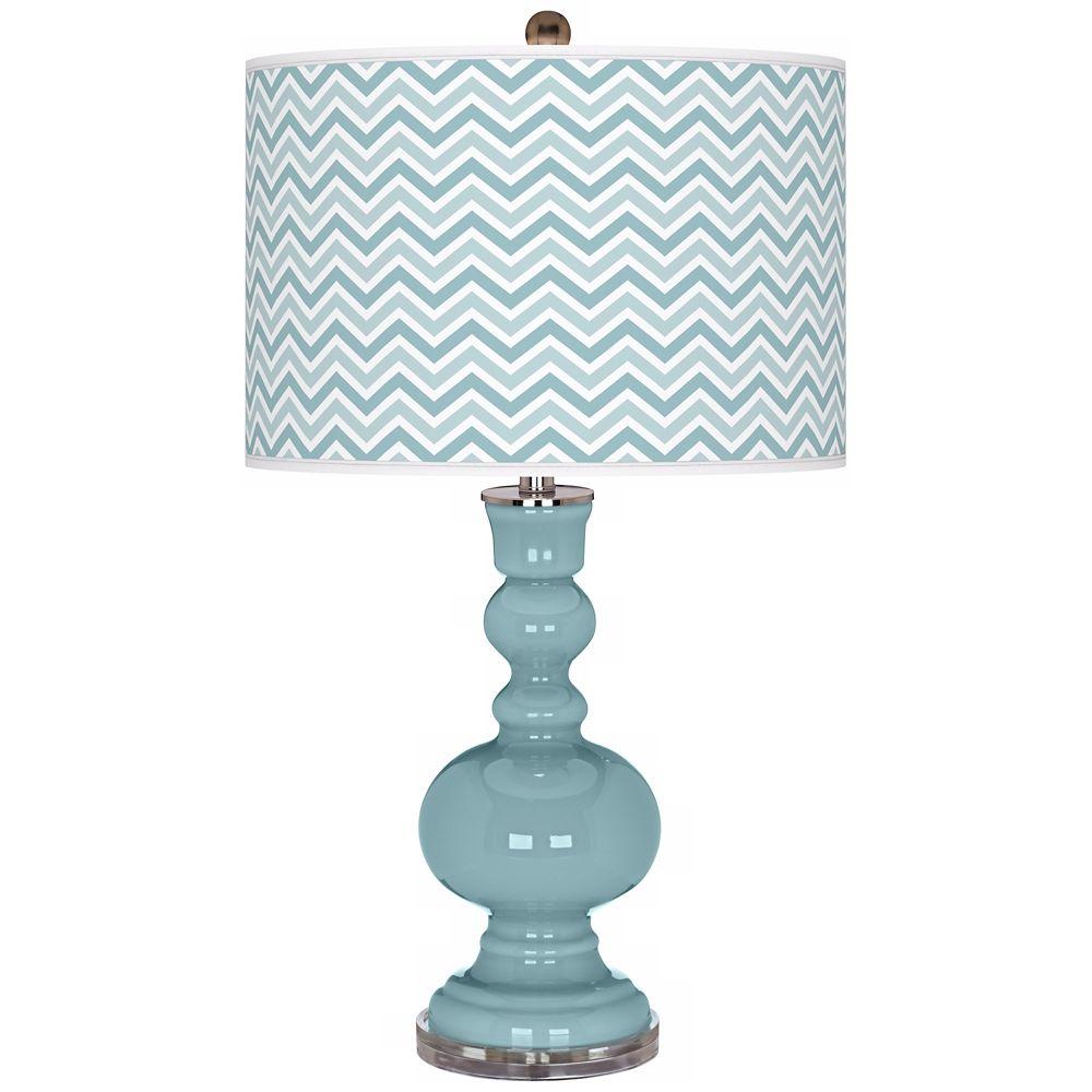 Raindrop Narrow Zig Zag Apothecary Table Lamp Style