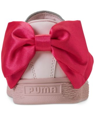 Puma Girls  Basket Bow Casual Sneakers from Finish Line - Pink 6.5 ... 94c0d976c