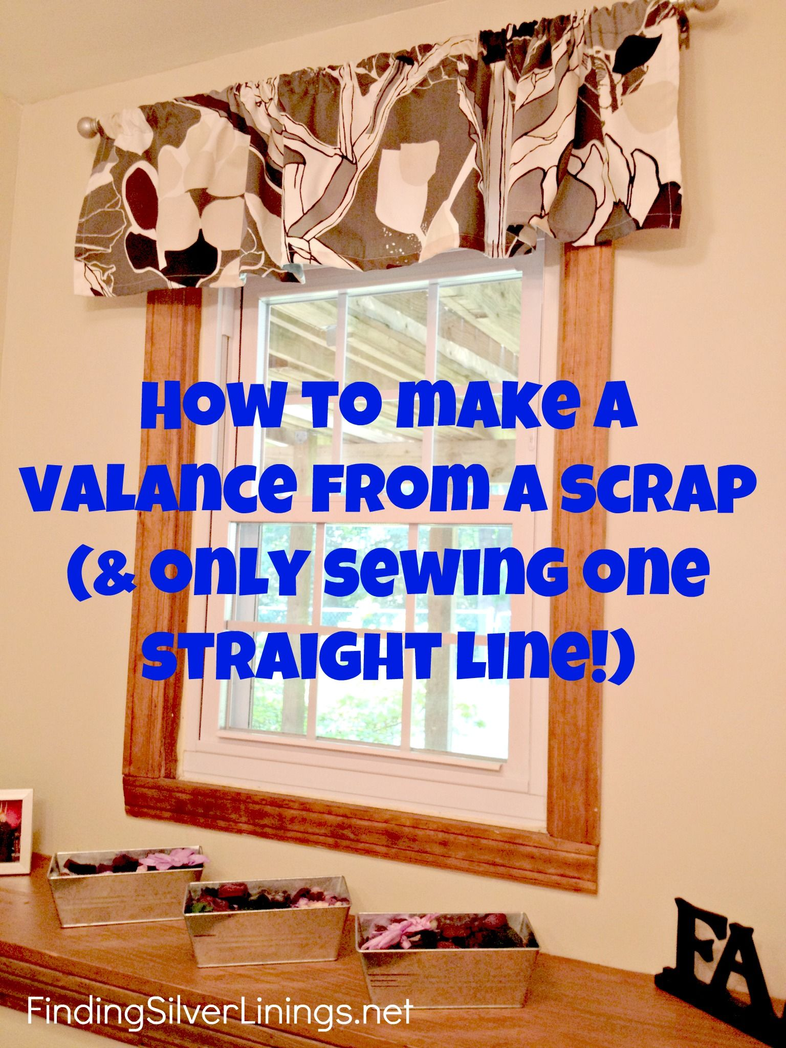 How To Make A Valance From A Really Long Curtain   Long ...