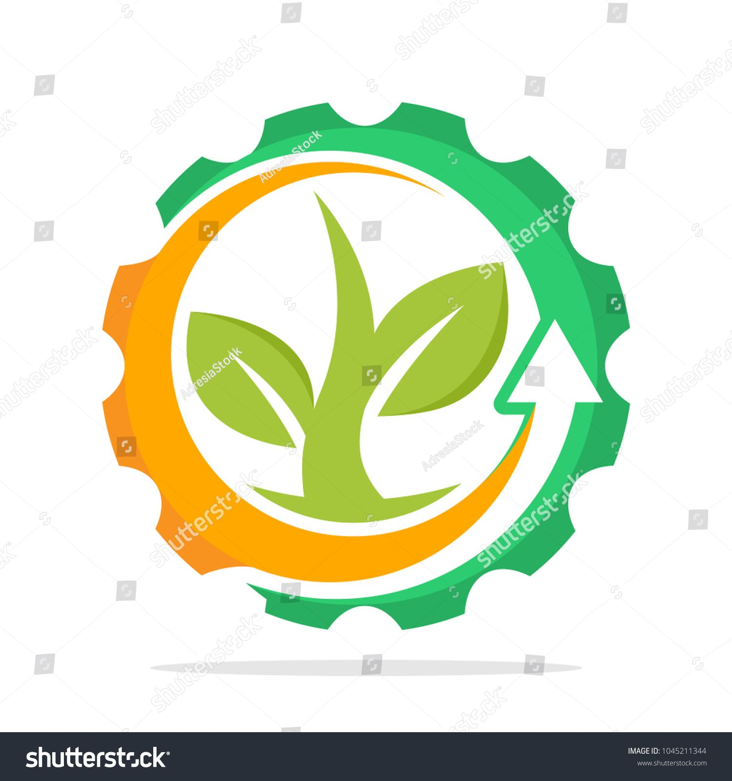 Iconic Logo With The Concept Of Environmentally Friendly Industry Eco Friendly Green Technology Sponsored Ad C Logo Concept Web Design Tutorials Concept