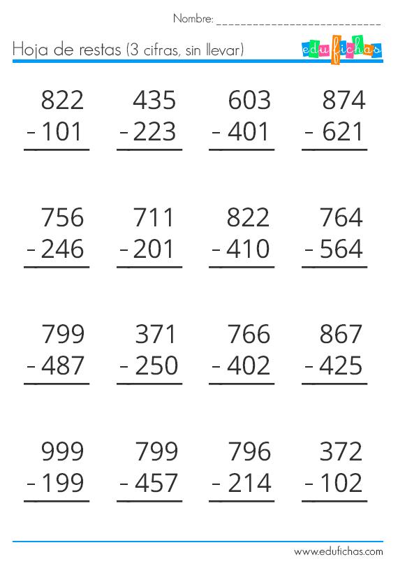 Descarga Nuestro Cuadernillo De Restas Gratis En Pdf Material Educativo Gratis Para Im Matematicas Tercer Grado Actividades De Resta Matematicas Segundo Grado