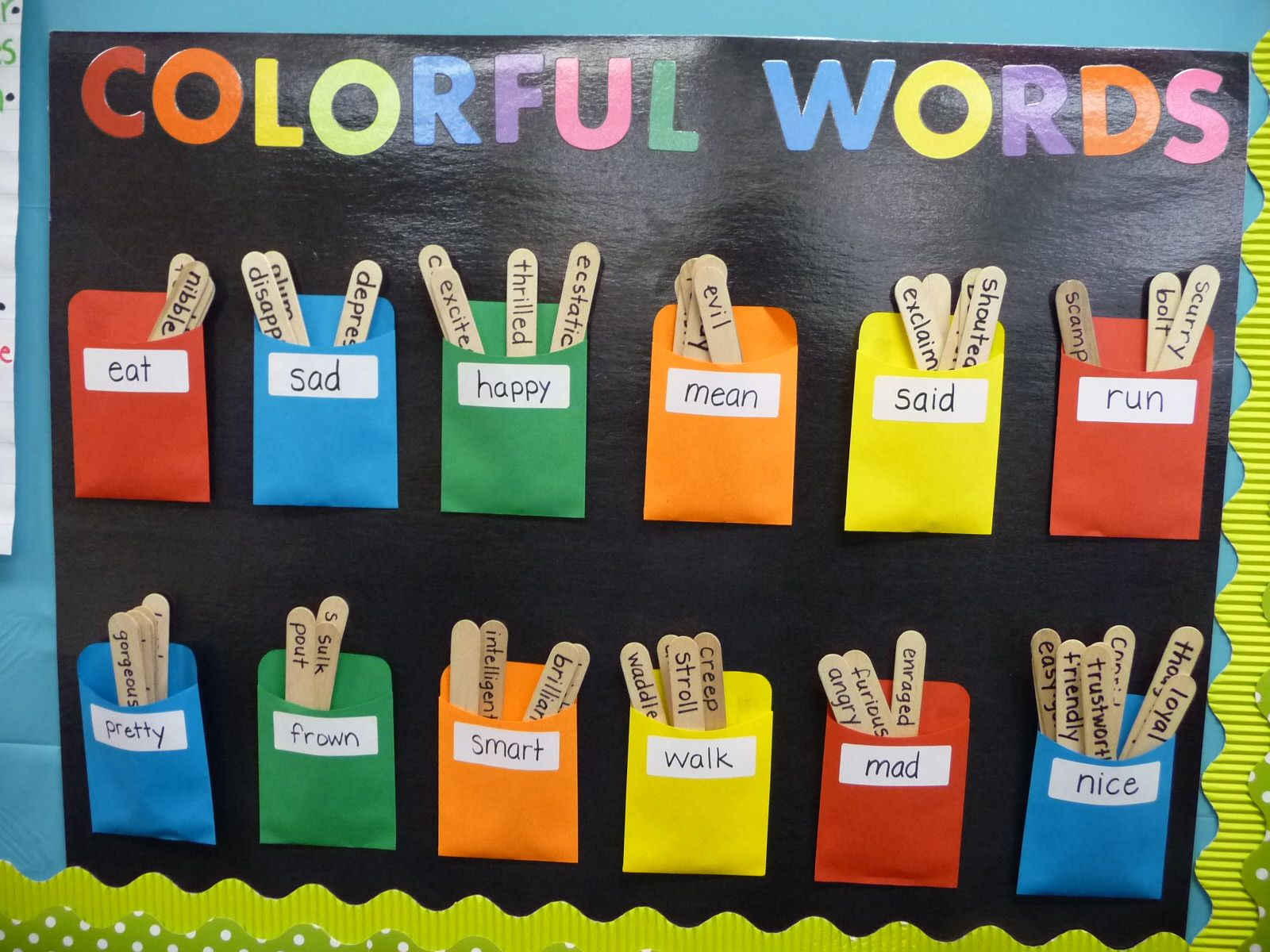 interactive word wall where kids can use colorful words on word wall id=18172
