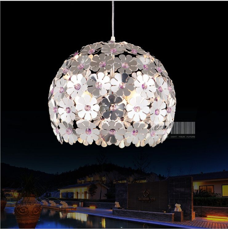 Modern 4 Color Options Ceiling Lamp Led Crystal Lighting