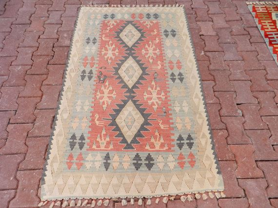 Wall Hanging.  High Quality Vegetable Dyes Vintage by ANATOLIANCARPETKILIM