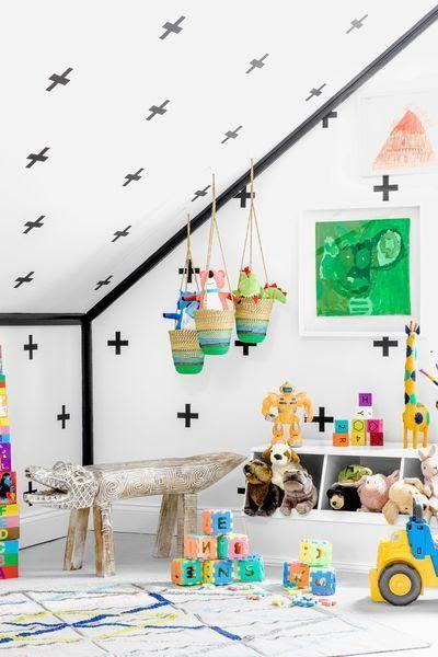 Une maison de plage relookée avec humour et fantaisie Salle de