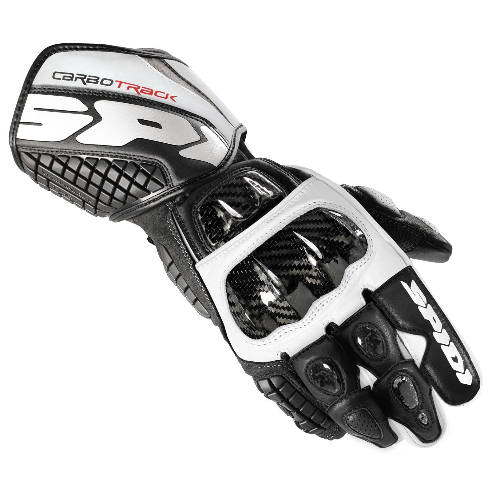 Black gloves races - Spidi Carbo Track Racing Glove Available In Black White Color At Http
