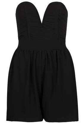 **Bandeau Prom Style Playsuit by TFNC - Playsuits & Jumpsuits - Clothing