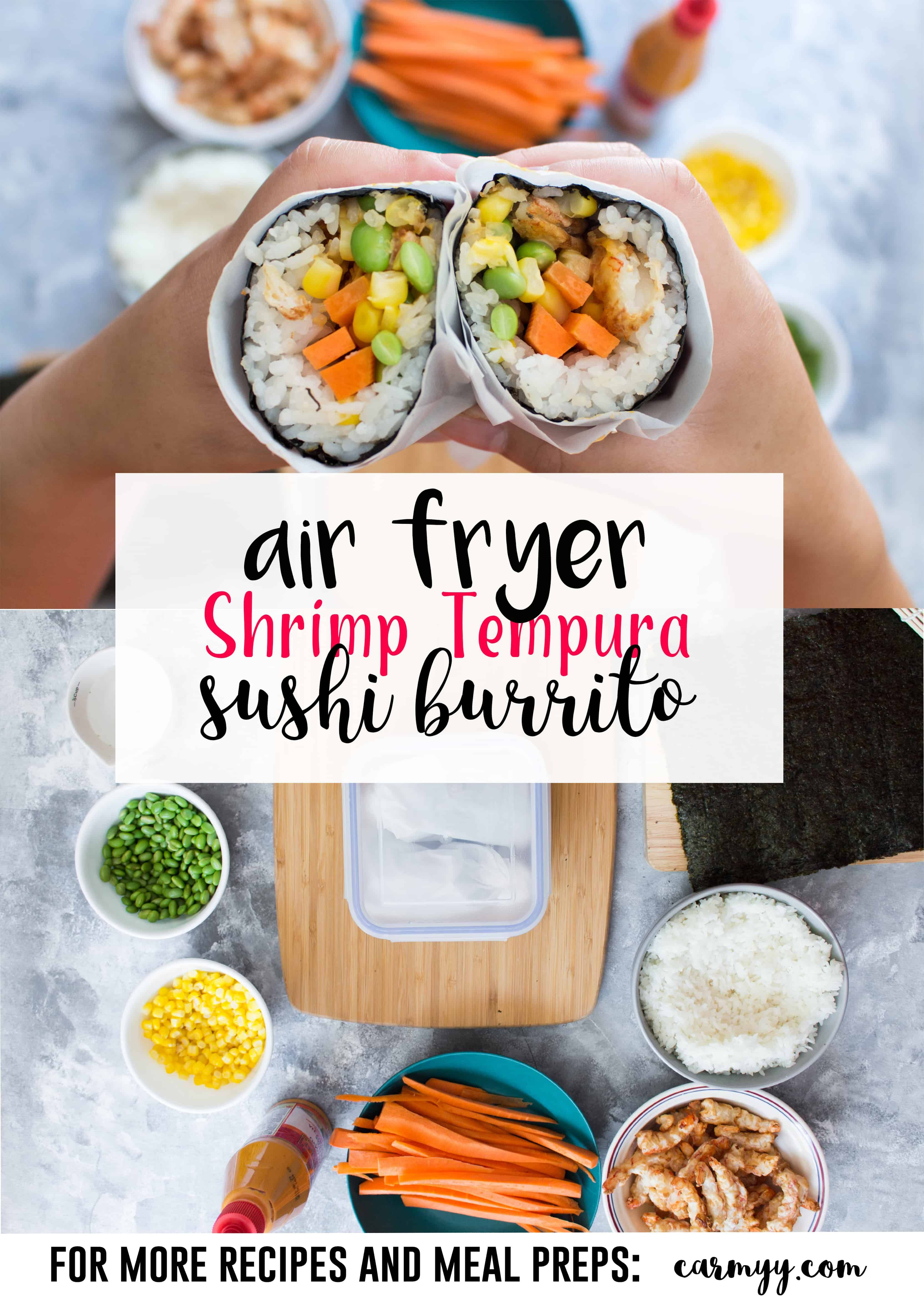 Airfryer Shrimp Tempura Sushi Burrito Recipe Dinner And Lunch