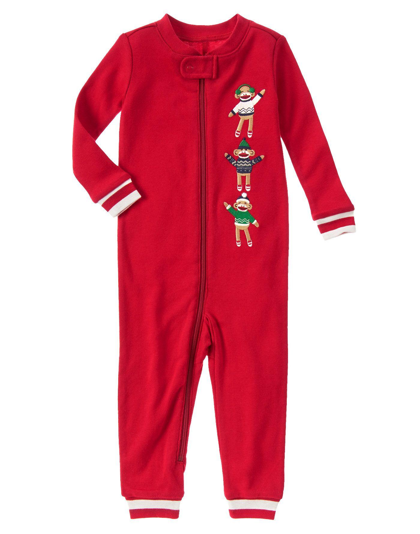 66e96fbaac Babies · Sock Monkey One-Piece Pajamas at Gymboree