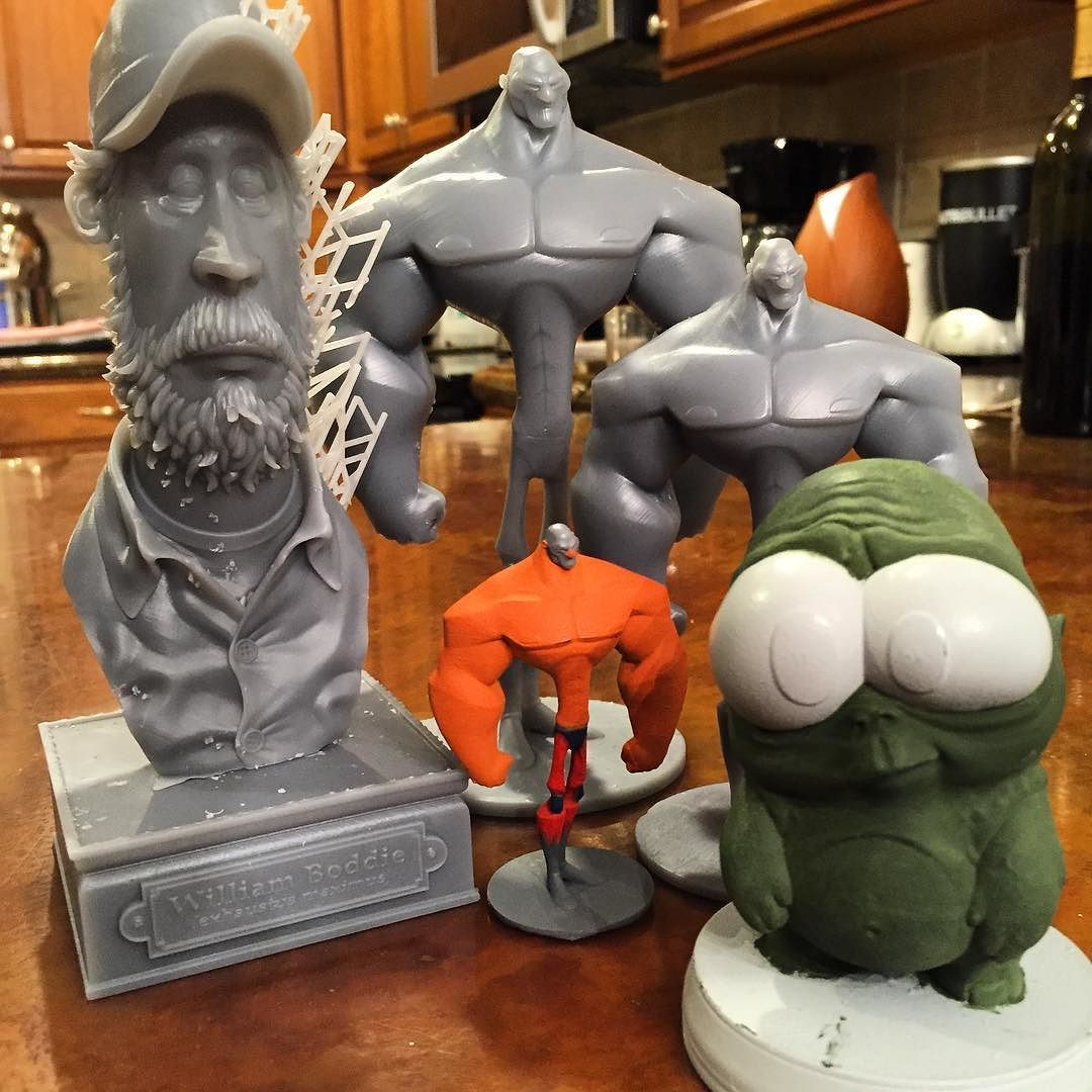 Collection of prints sculpted by @anthonyscotcoffey and printed by @animationink :). #artstation #3dprinting #formlabs #zbrushcentral by animationink