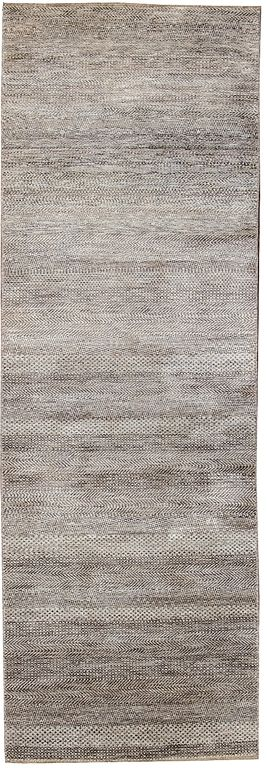 Contemporary 2 X 10 Indian Runner Rug In A Grey Brown Background 1 800 00