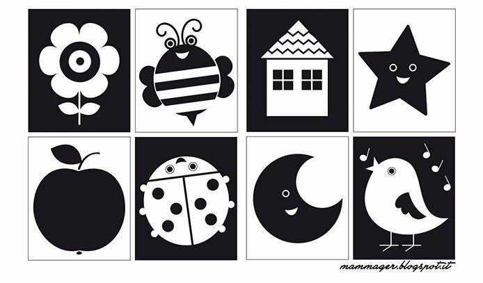 черно белые картинки до какого возраста малышам уже ясно