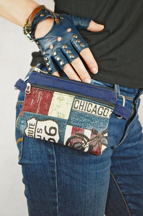 Independence Day Accessory, Belt Bag Wallet, Patriotic American Unisex Bumbag, Festival and Travel Pocket Waist Pouch
