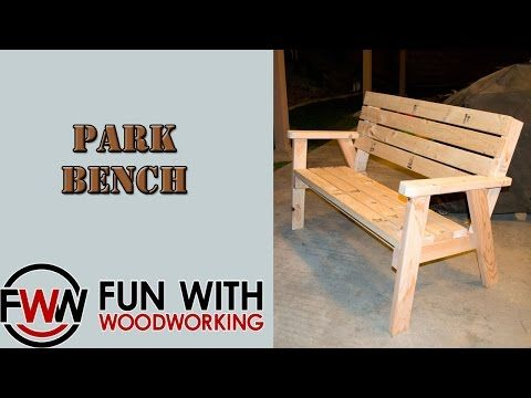 Project How To Make A Park Bench With A Reclined Seat Out