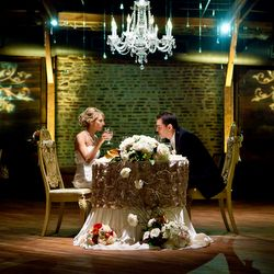 From the incredible gold decor to the spectacular cake table to love the idea of chandeliers over the special tables couples cake etc m4hsunfo