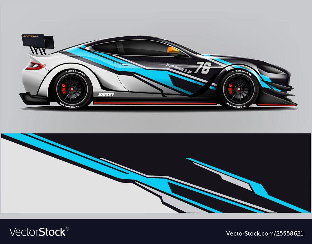 Sport Car Racing Wrap Design Design Royalty Free Vector Affiliate Racing Wrap Sport Car Ad Car Sticker Design Car Wrap Racing Car Design