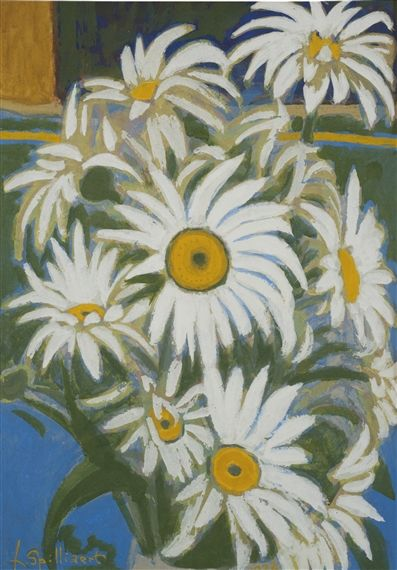 Artwork by Léon Spilliaert, MARGUERITES, Made of crayon, watercolour and gouache on paper